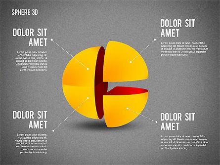 3D Divided Sphere, Slide 11, 01904, Shapes — PoweredTemplate.com