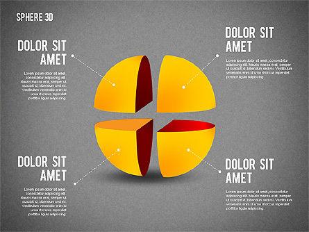 3D Divided Sphere, Slide 12, 01904, Shapes — PoweredTemplate.com