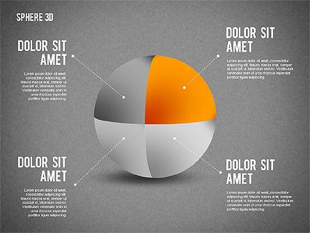 3D Divided Sphere, Slide 13, 01904, Shapes — PoweredTemplate.com