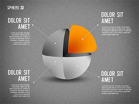 3D Divided Sphere, Slide 14, 01904, Shapes — PoweredTemplate.com