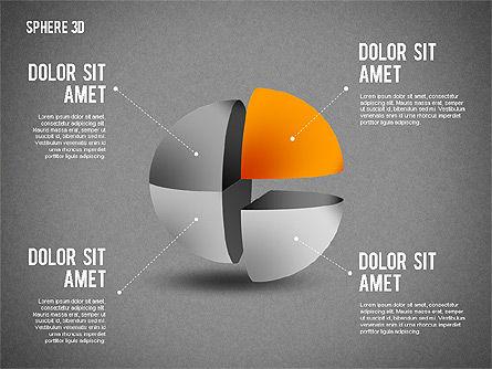 3D Divided Sphere, Slide 15, 01904, Shapes — PoweredTemplate.com