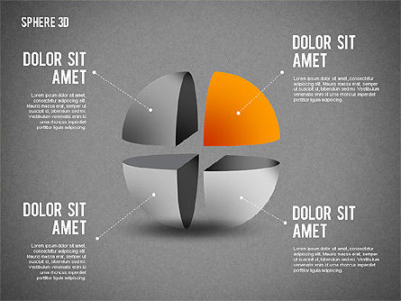 3D Divided Sphere, Slide 16, 01904, Shapes — PoweredTemplate.com