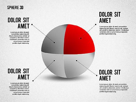 3D Divided Sphere, Slide 5, 01904, Shapes — PoweredTemplate.com