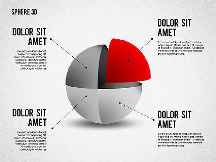 3D Divided Sphere, Slide 6, 01904, Shapes — PoweredTemplate.com
