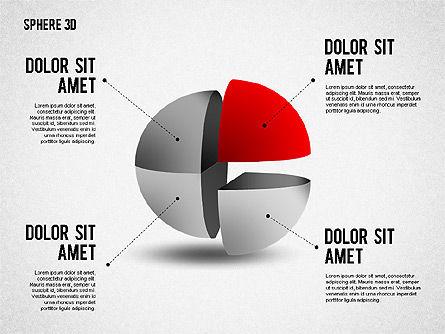 3D Divided Sphere, Slide 7, 01904, Shapes — PoweredTemplate.com