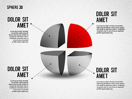 3D Divided Sphere, Slide 8, 01904, Shapes — PoweredTemplate.com