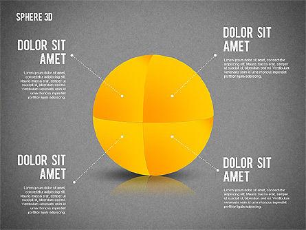 3D Divided Sphere, Slide 9, 01904, Shapes — PoweredTemplate.com
