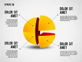 3D Divided Sphere#3