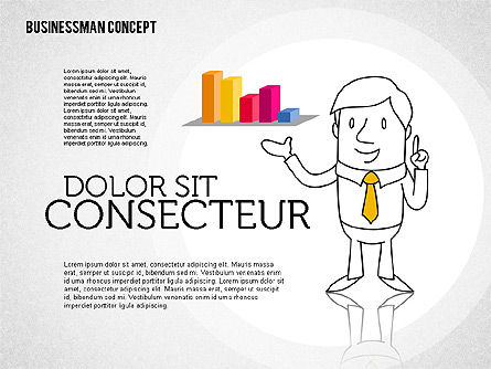 Businessman Concept Illustrations, 01905, Shapes — PoweredTemplate.com
