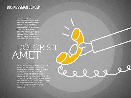 Businessman Concept Illustrations, Slide 14, 01905, Shapes — PoweredTemplate.com