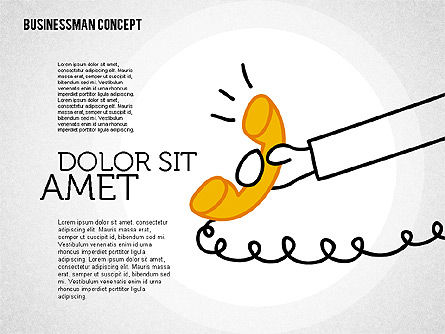 Businessman Concept Illustrations, Slide 6, 01905, Shapes — PoweredTemplate.com