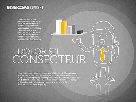 Businessman Concept Illustrations, Slide 9, 01905, Shapes — PoweredTemplate.com