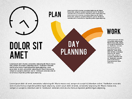 Day Planning Diagram, Slide 2, 01909, Timelines & Calendars — PoweredTemplate.com