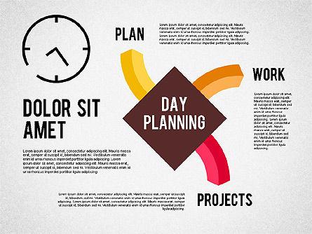 Day Planning Diagram, Slide 3, 01909, Timelines & Calendars — PoweredTemplate.com