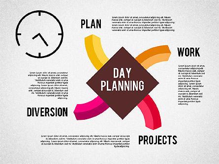 Day Planning Diagram, Slide 4, 01909, Timelines & Calendars — PoweredTemplate.com