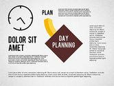 Timelines & Calendars: Dag planning diagram #01909