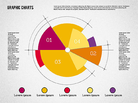 Pie Chart Collection In Flat Design For Powerpoint Presentations