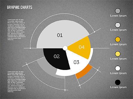 Pie Chart Collection in Flat Design, Slide 10, 01910, Pie Charts — PoweredTemplate.com
