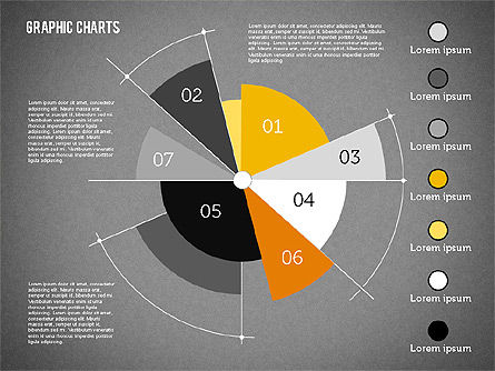 Pie Chart Collection in Flat Design, Slide 11, 01910, Pie Charts — PoweredTemplate.com