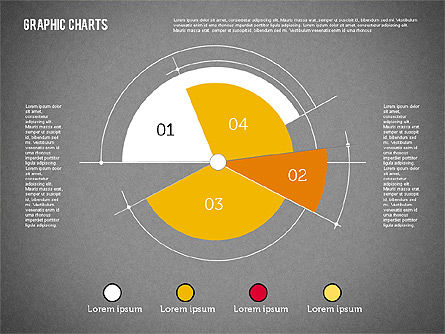 Pie Chart Collection in Flat Design, Slide 12, 01910, Pie Charts — PoweredTemplate.com