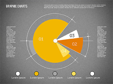Pie Chart Collection in Flat Design, Slide 13, 01910, Pie Charts — PoweredTemplate.com
