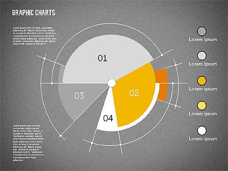 Pie Chart Collection in Flat Design, Slide 14, 01910, Pie Charts — PoweredTemplate.com