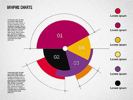 Pie Chart Collection in Flat Design, Slide 2, 01910, Pie Charts — PoweredTemplate.com