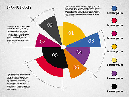 Pie Chart Collection in Flat Design Slide 3