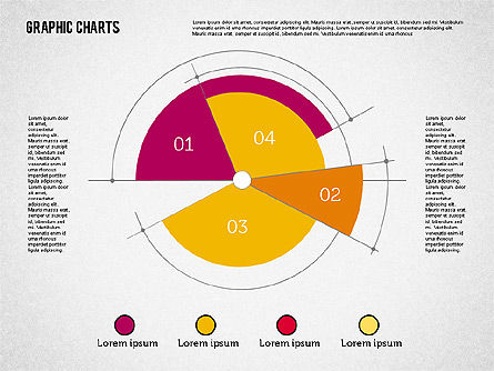 Pie Chart Collection in Flat Design Slide 4
