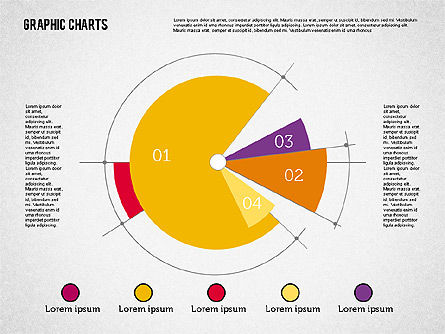 Pie Chart Collection in Flat Design, Slide 5, 01910, Pie Charts — PoweredTemplate.com