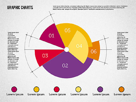 Pie Chart Collection in Flat Design, Slide 7, 01910, Pie Charts — PoweredTemplate.com