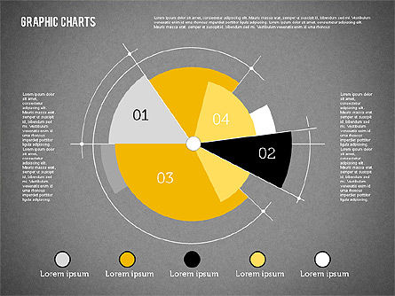 Pie Chart Collection in Flat Design, Slide 9, 01910, Pie Charts — PoweredTemplate.com