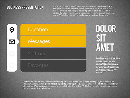 Presentation with Stages and Icons , Slide 10, 01911, Stage Diagrams — PoweredTemplate.com