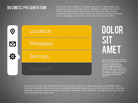 Presentation with Stages and Icons , Slide 11, 01911, Stage Diagrams — PoweredTemplate.com