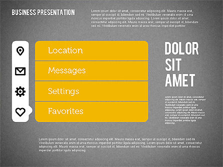 Presentation with Stages and Icons , Slide 12, 01911, Stage Diagrams — PoweredTemplate.com