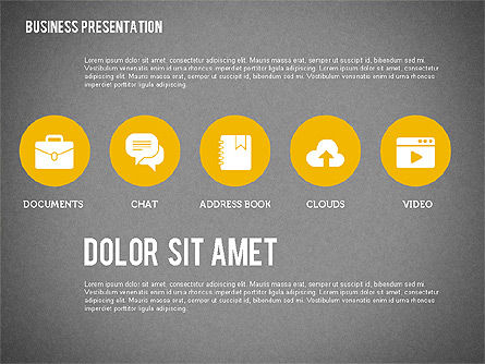 Presentation with Stages and Icons , Slide 15, 01911, Stage Diagrams — PoweredTemplate.com