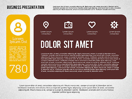 Presentation with Stages and Icons , Slide 5, 01911, Stage Diagrams — PoweredTemplate.com