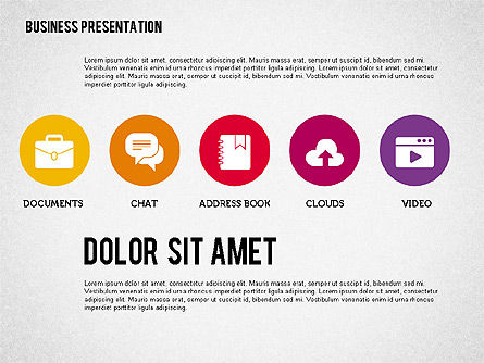Presentation with Stages and Icons , Slide 7, 01911, Stage Diagrams — PoweredTemplate.com