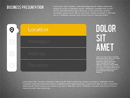 Presentation with Stages and Icons , Slide 9, 01911, Stage Diagrams — PoweredTemplate.com