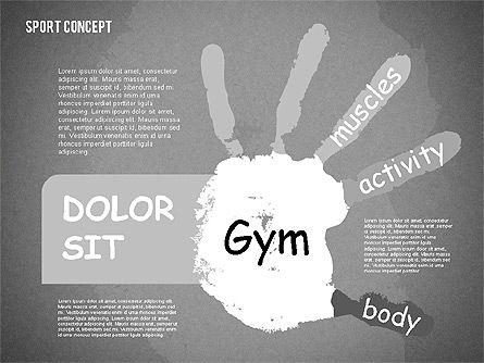Sports Activities Diagram, Slide 13, 01915, Business Models — PoweredTemplate.com