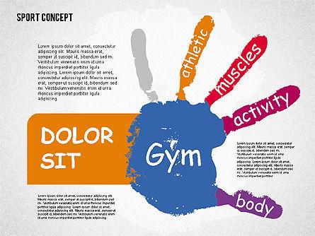 Sports Activities Diagram, Slide 6, 01915, Business Models — PoweredTemplate.com