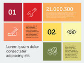 Presentation Templates: Bouw presentatie in plat design #01917