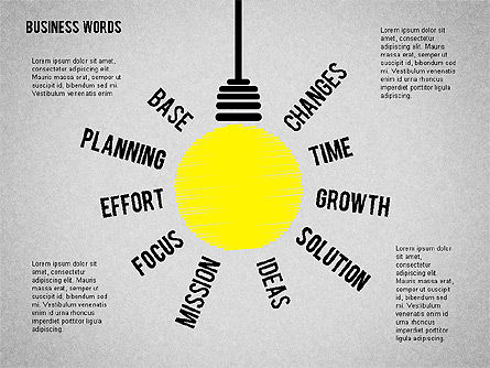 Idea Light Bulb, 01919, Business Models — PoweredTemplate.com