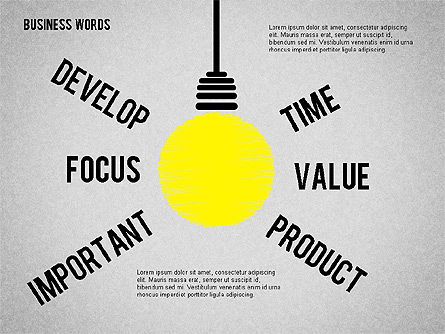Idea Light Bulb, Slide 4, 01919, Business Models — PoweredTemplate.com