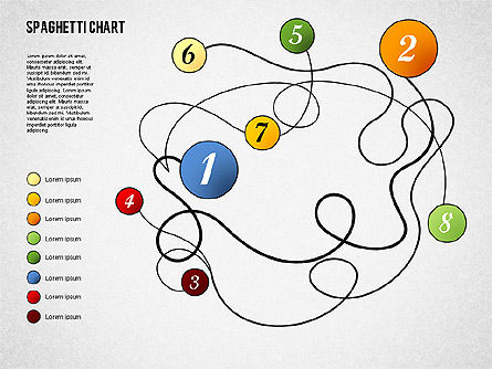 Spaghetti Diagram, Slide 4, 01920, Process Diagrams — PoweredTemplate.com
