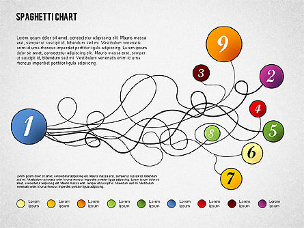 Spaghetti Diagram, Slide 5, 01920, Process Diagrams — PoweredTemplate.com