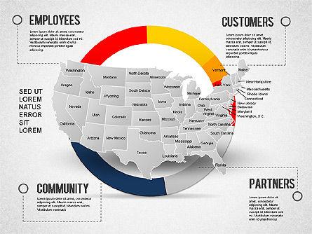 USA Presentation Diagram, Slide 12, 01921, Business Models — PoweredTemplate.com