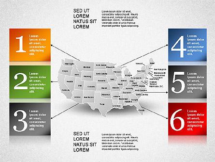 USA Presentation Diagram, Slide 16, 01921, Business Models — PoweredTemplate.com