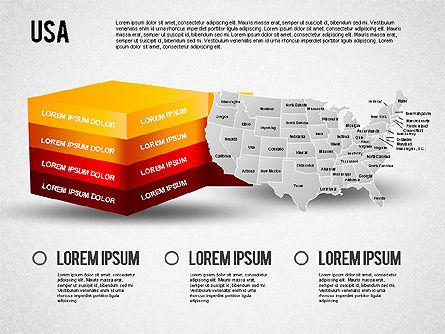 USA Presentation Diagram, Slide 2, 01921, Business Models — PoweredTemplate.com