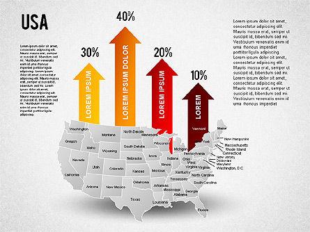 USA Presentation Diagram, Slide 4, 01921, Business Models — PoweredTemplate.com
